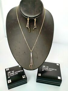THE RENNIE MACKINTOSH COLLECTION 925 SILVER EARRINGS AND NECKLACE SET 11.7 GRAMS
