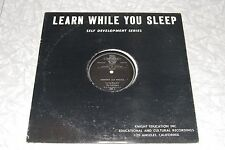 LEARN WHILE YOU SLEEP Memory and Recall SPOKEN WORD SELF HELP LP