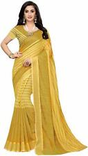 Trendy Synthetic Saree with Blouse Piece