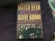 Signed Steve Boone Hotter Than A Match Head Paperback The Lovin' Spoonful 1st Ed