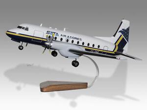 Hawker Siddeley HS-748 SATA Air Acores Wood Desktop Handmade Airplane Model