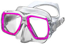 Mares Ray Mask ,FreeDive, Scuba, Diving Dive Pink White Clear