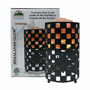 Lampara Sal Himalaya mesa de noche luz buena energia decoración mineral mosaico