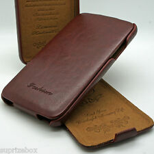 SLIM! Genuine PU Leather Flip Case Wallet Cover for Samsung Galaxy Models