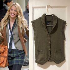 Marc Jacobs Green Wool Sweater Vest S Gossip Girl Serena Van Der Woodsen