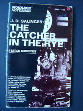 "Monarch Notes  "" The Catcher In The Rye ""  J.D.Salinger  1965"