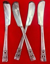 Community CORONATION Butter Spreader Paddle Knife Silverplate Flatware Set of 4