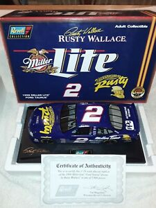 Revell Rusty Wallace #2 Miller Lite Limited Ed.1998 Ford Taurus 1:18  w/ COA
