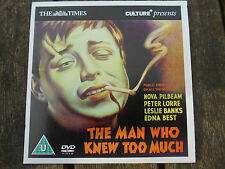 THE MAN WHO KNEW TO MUCH PETER LORRE ALFRED HITCHCOCK PROMO DVD (FREE UK POST)