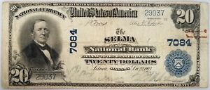 1902 $20 National Currency from The Selma National Bank, Selma, Alabama! Fr #650