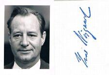 "Denmark Ivar Nørgaard 1922-2011 autograph verso signed 2""x2.5"" photo Minister"