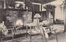 Buck Hill Falls Pennsylvania Office Interior Fireplace Antique Postcard K29338
