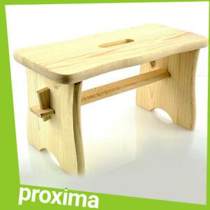 Small Wooden Wood Stool Bench Furniture for Adult Kids - Vintage Art Deco Style