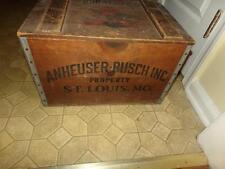 VINTAGE BUDWEISER ANHEUSER BUSCH CENTENNIAL WOODEN BEER CRATE BOX 1876 - 1976