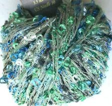 Kfi Knitting Fever Pizazz #37 Sea Glass Blues Greens Loopy Boucle Yarn Skein