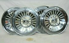 1957 Ford Fairlane Thunderbird Ranchero Hubcaps Wheel Covers Center Caps 57 4