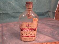 Vintage Whiskey Bottle with lid cap Diplomat Strait bourban nice label