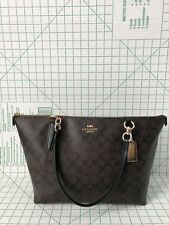 NWT Coach F58318 F55064 AVA Signature Tote Handbag Purse Bag Brown Black