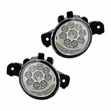 2x 9 LED Driver Passenger Side E1 DOT Fog Light PC Lens For Nissan Infiniti M35