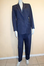 RALPH LAUREN SZ 6,WOOL BLEND BLAZER,SUIT Jacket,pants sz 8 ,NAVY BLUE stripes *i