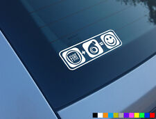 FIAT PLUS BOOST EQUALS SMILES CAR STICKER DECAL FUNNY TURBO 500 PUNTO COUPE