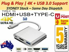 USB 3.1 Type-C USB-C to Female HUB 3IN1 4K HD HDMI Data Adapter Charging Cable .