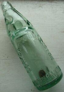Nice 10oz BEDFORD & BURNISTON BOURNEMOUTH Codd bottle C 1900s