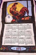 Vtg Top Of The Morning Rooster Sampler Tea Towel 1973