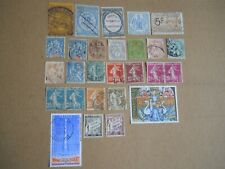 Old France Lot Of 25 All Different Stamps Of 1879 - 1979 / Cat $ 30.00+++ V Nice