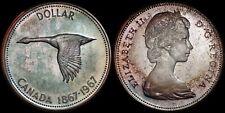 CANADA $1 1967 (CHOICE SPECIMEN) *BEAUTIFUL MINT SET TONING*