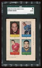1969 O-Pee-Chee 4-In-1 Proof HOWE/Mohns/Woytowich/Desjardins SGC AUTH 372923-044