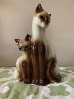 Vintage KRON Mid-Century Siamese Cat Kitten TV Lamp Night Light Glowing Eyes 👀