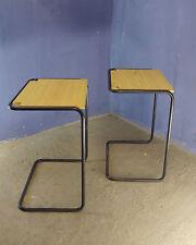 1 di 10 Vintage Scuola Scrittura Scrivania Tavolo console ETAGERE Stile Bauhaus