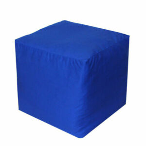 "22X22X22"" Square Footstool Cover Blue Pouf Ottoman Cover Seating Ottoman Covers"
