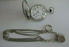 Paris 1900 Silver Chain No Reserv Antique Longines Silver Pocket Watch Grandprix