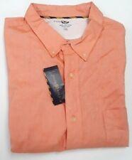 Club Room Orange Short Sleeve 100% Cotton Shirt 2XB Big & Tall big 2X
