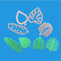 4pcs Tropical Leaf Fondant Cake Mold Embossed Candy Biscuits Cookie Cutter Tool