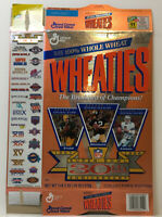 Vintage WHEATIES Super Bowl 30th Anniversary NFL Football Cereal Box