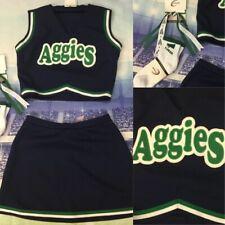 Real Cheerleading Uniform Aggies Crop Adult M/l Top 36� Skirt 28�