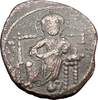 JESUS CHRIST Class D Anonymous Ancient 1042AD Byzantine Follis Coin  i47436