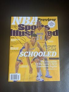 D'Angelo Russell Signed Sports Illustrated Magazine With Kobe Bryant