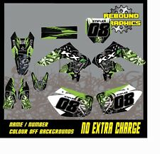 Rebound mx graphics kit to fit kawasaki KX KXF 65 85 125 250 450 all years