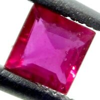 NATURAL SRI-LANKAN RED RUBY SQUARE-CUT EXCELLENT LOOSE GEMSTONES 5 x 5 mm