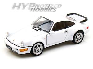 WELLY 1:24 PORSCHE 911 TURBO (964) DIE-CAST WHITE 24023 N/B