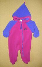 LL BEAN Pink/Purple Warm FLEECE WINTER SUIT Full Body Sz Toddler BABY 18 MONTHS
