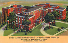 WINSTON-SALEM NORTH CAROLINA - BAPTIST HOSPITAL & BOWMAN GARY SCHOOL POSTCARD