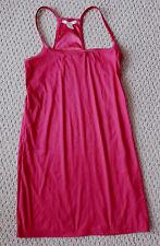 Womens DKNY candy-apple-red sleepshirt Night Slip stretch Tank Dress (M) stretch