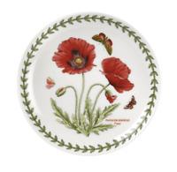 """Portmeirion Botanic Garden POPPY Coupe Plate 6.5"""" Appetizer Dessert Set 4 Plates"""