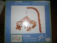 Cocalo Baby Girl Nursery Decor Crib Musical Mobile Emilia Butterfly Flower New