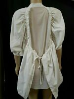 CQ by CQ Rare Boho Oversized RN # 140591 White Womens Button Front Mesh Top Sz S